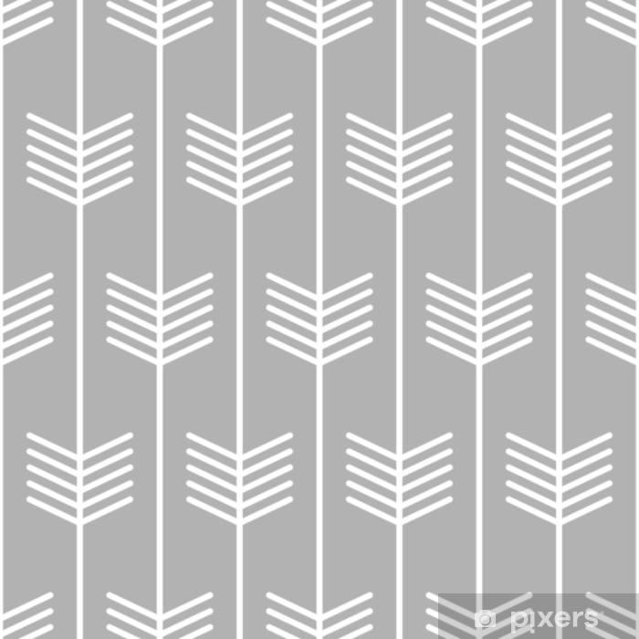 Alfombrilla de baño Diseño de estilo escandinavo sin fisuras de patrón de flecha. vector - Recursos gráficos