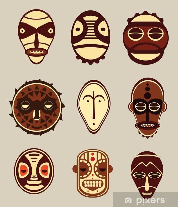 African Cultural Masks Wall Mural Pixers We Live To Change
