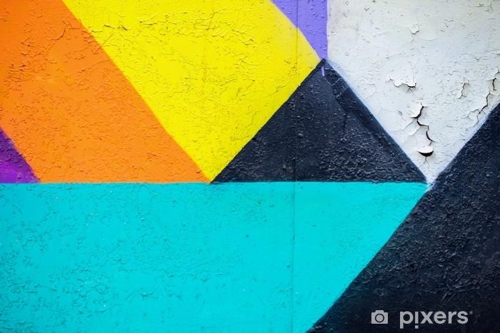 Fototapeta winylowa Ściana graffity. streszczenie detal urban street art design zbliżenie. nowoczesna kulturalna kultura miejska. zdjęcia aerozoli. może być użyteczny dla tła. - Zasoby graficzne