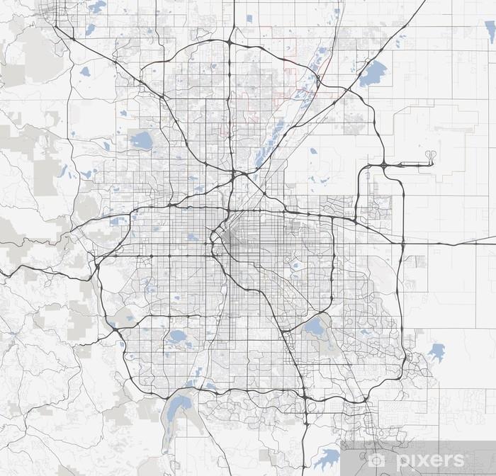 Kartta Denver City Colorado Tiet Pixerstick Tarra Pixers