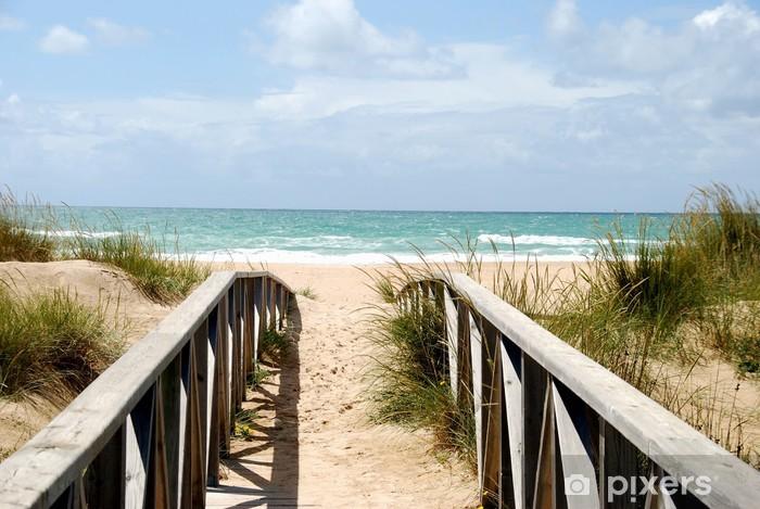 Fototapeta winylowa Kładka do plaży - Lato