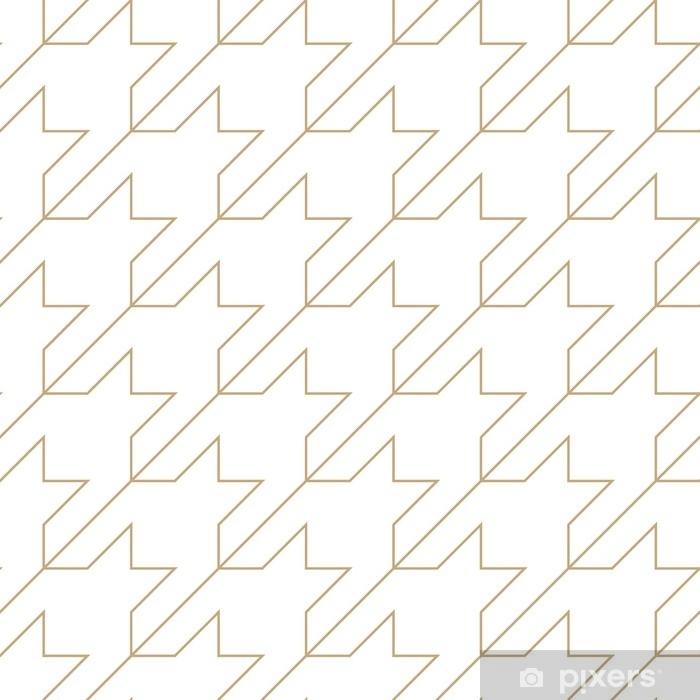 Sticker Pixerstick Motif géométrique de textile pied-de-poule tendance quadrillé - Ressources graphiques