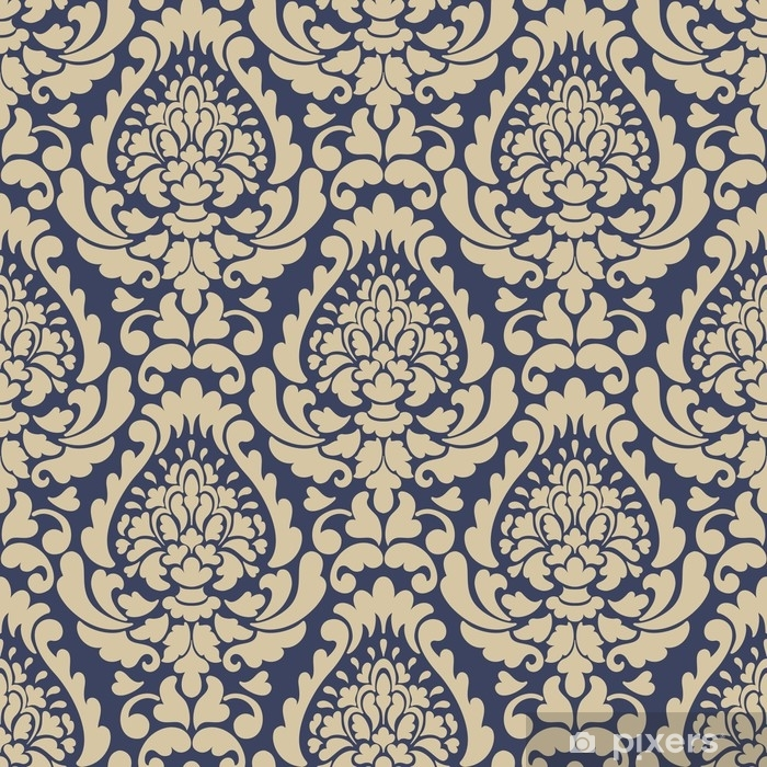 Vector damask seamless pattern background. Classical luxury old fashioned damask ornament, royal victorian seamless texture for wallpapers, textile, wrapping. Exquisite floral baroque template. Vinyl Wall Mural - Graphic Resources
