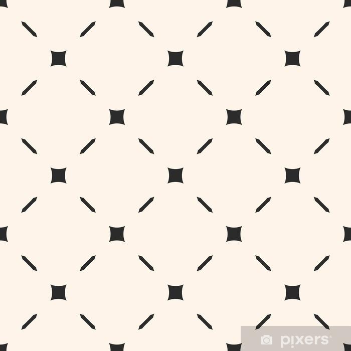 Fototapet av Vinyl Vektor sömlöst mönster. stilig minimalistisk geometrisk konsistens med enkla element, tunna diagonala linjer. subtil abstrakt bakgrund. illustration av nät, gitter. design för tryck, inredning, möbler - Grafiska resurser