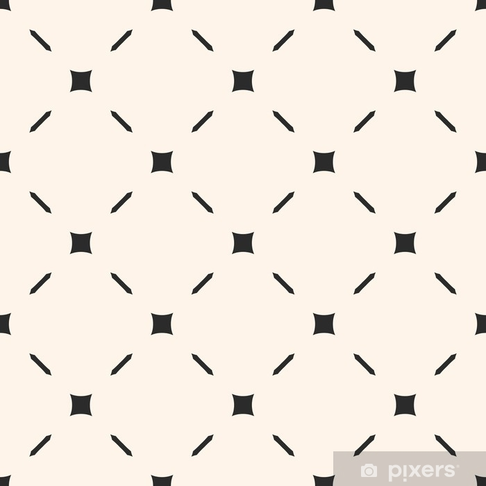 Vector seamless pattern. Stylish minimalist geometric texture with simple elements, thin diagonal lines. Subtle abstract background. Illustration of mesh, lattice. Design for prints, decor, furniture Vinyl Wall Mural - Graphic Resources