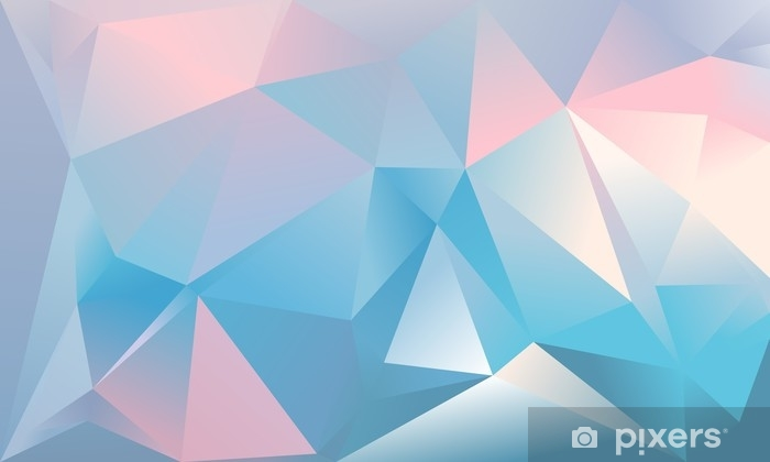 Abstract Triangle Background Light Blue Pink And White Colour Wall Mural Vinyl