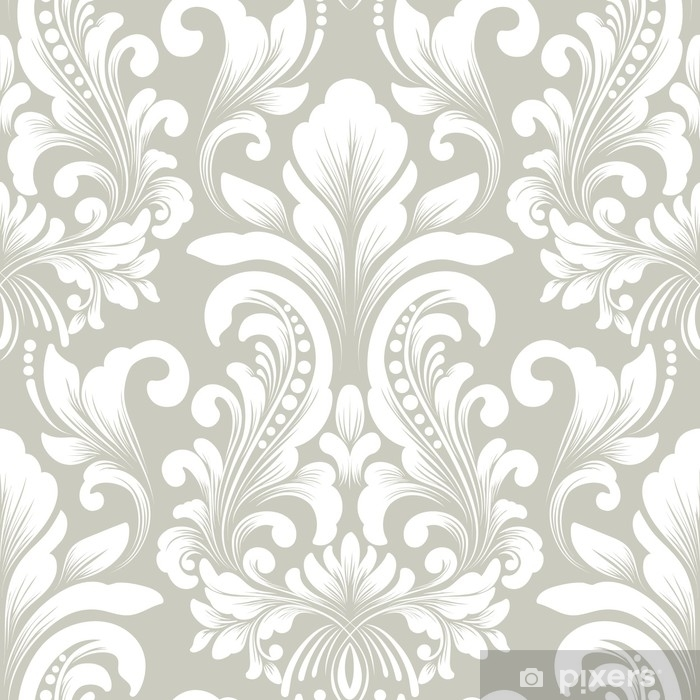 Vector damask seamless pattern element. Classical luxury old fashioned damask ornament, royal victorian seamless texture for wallpapers, textile, wrapping. Exquisite floral baroque template. Vinyl Wall Mural - Graphic Resources