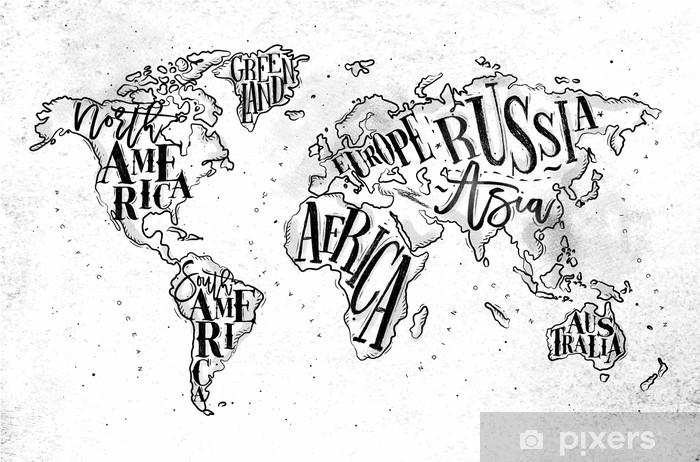 Koc pluszowy Worldmap vintage paper - Podróże