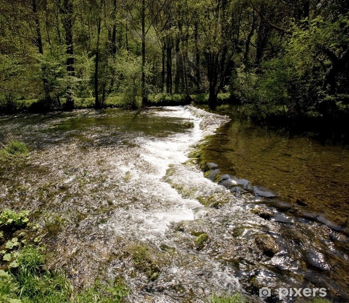 Sticker Pixerstick Vallée de la dovedale de colombe de la rivière - Europe