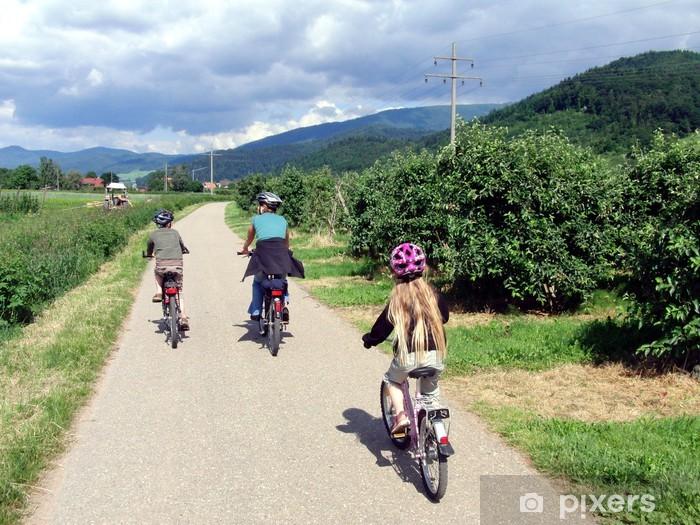 Vinyl-Fototapete Fahrradtour - Straßenverkehr