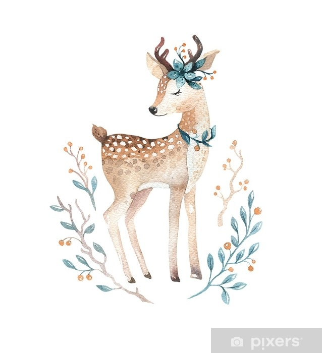 Fototapeta vinylová Roztomilé dítě jelen zvíře pro mateřskou školu 1cac48c373