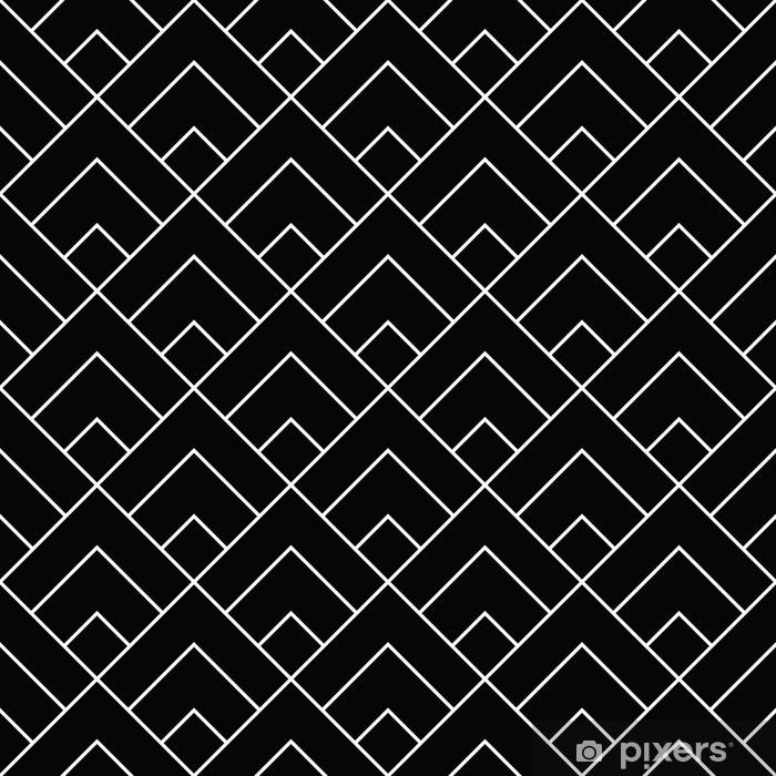 Naklejka Pixerstick Geometryczne płytki diamentowe minimalne grafiki wektor wzór - Zasoby graficzne