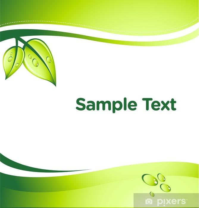 Naklejka Pixerstick Wektor zielony abstrakcyjne tło z miejscem na tekst - Ekologia