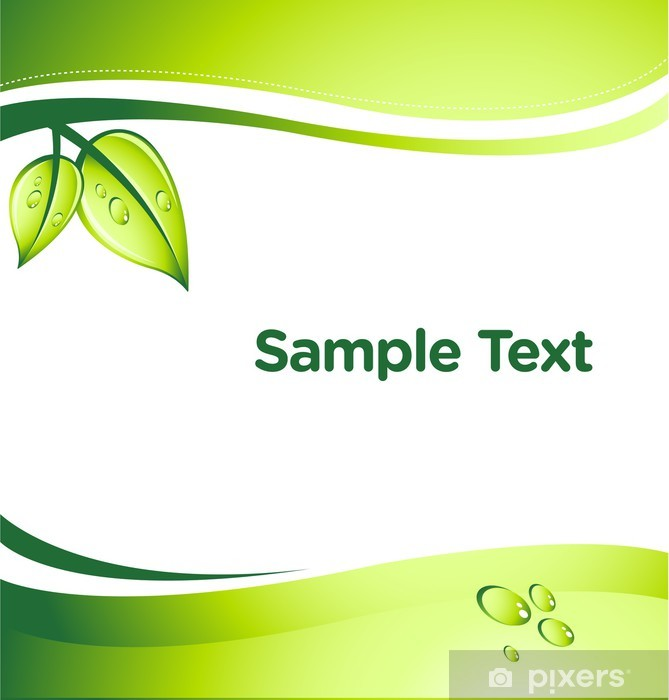 vector GREEN abstract background with place for your text Vinyl Wall Mural - Ecology