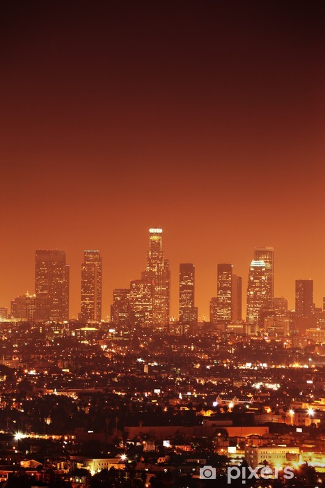 Downtown Los Angeles skyline Pixerstick Sticker - Themes
