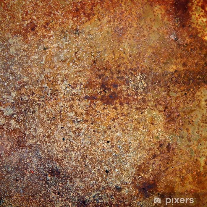 Vinyl Fotobehang Sterk roestige metalen plaat -