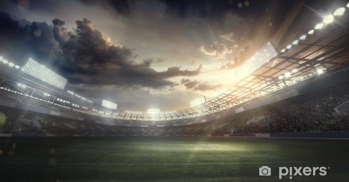 Vinyl Fotobehang Sport achtergrond. voetbal stadion. sport arena - Sport
