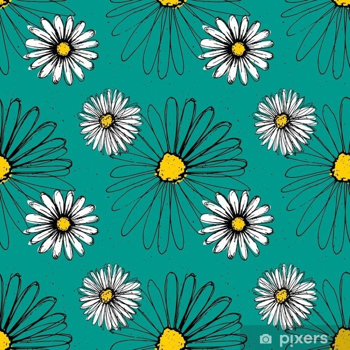Fototapeta Hermanek Rucne Kreslene Inkoustove Kvetiny Vyrobene S