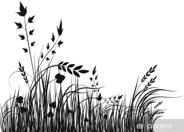 grass vector silhouette wall mural pixers we live to change grass vector silhouette wall mural pixers we live to change