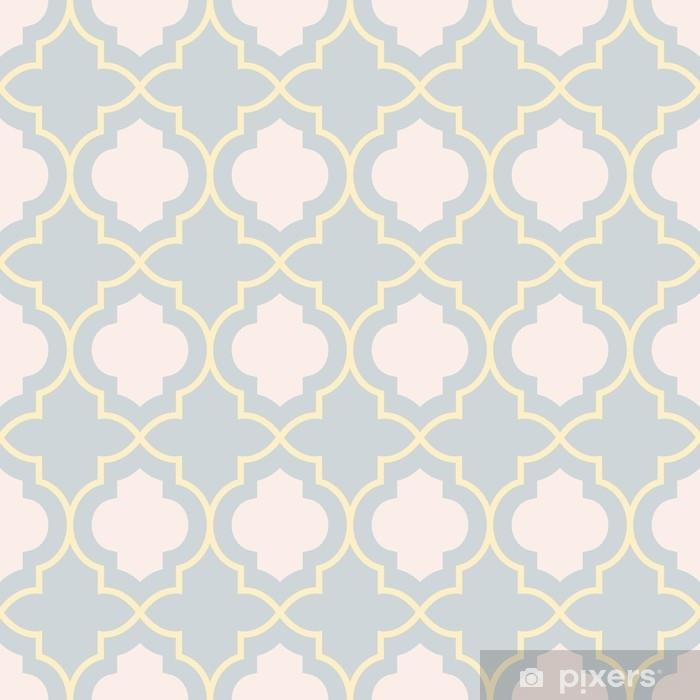 Yellow Trellis Wallpaper: Gray And Yellow Traditional Geometric Quatrefoil Trellis
