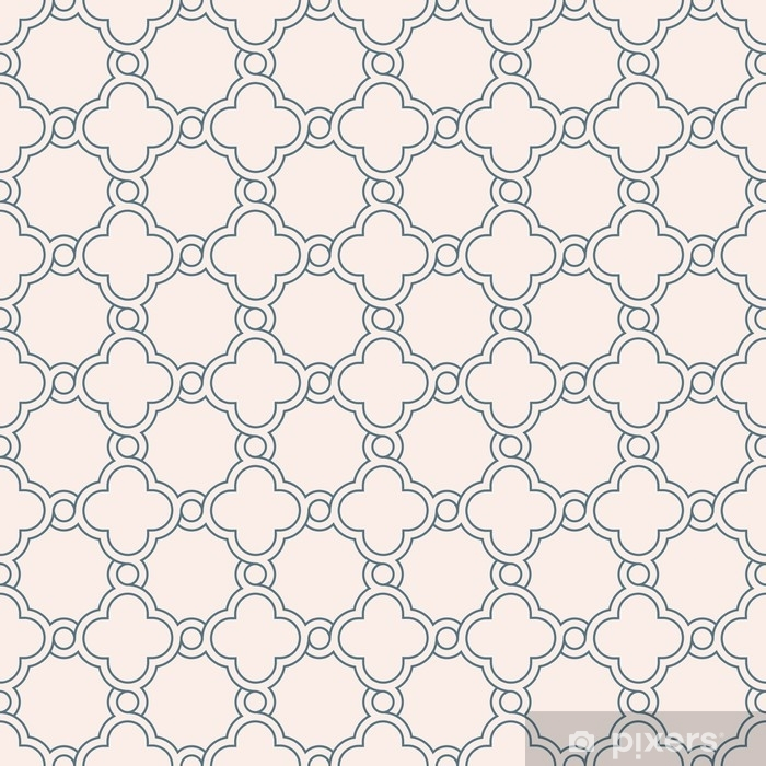 Papier Peint Papier Peint De Treillis Quadrilobe Geometrique