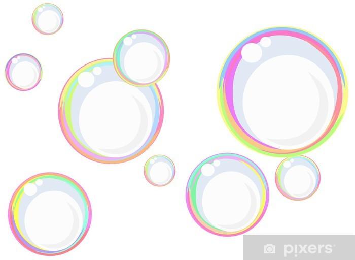 Papier peint vinyle Arc-en-bulles de savon - Bonheur