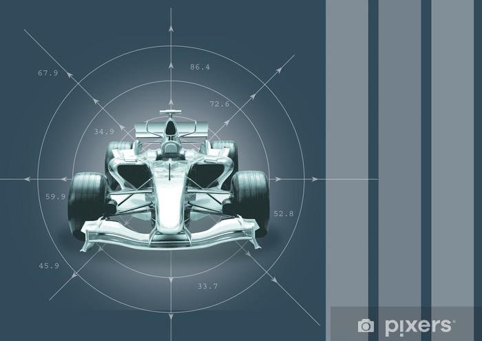 Fotobehang Formule 1.Fotobehang Vinyl Formule 1 Wagen Speed Concept