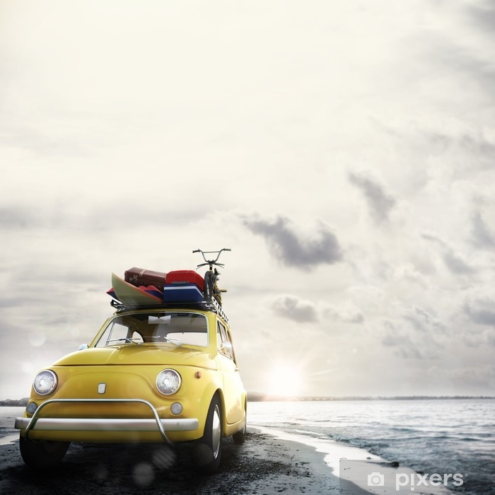 Fototapeta winylowa 3d rendering wakacje na drodze - Transport