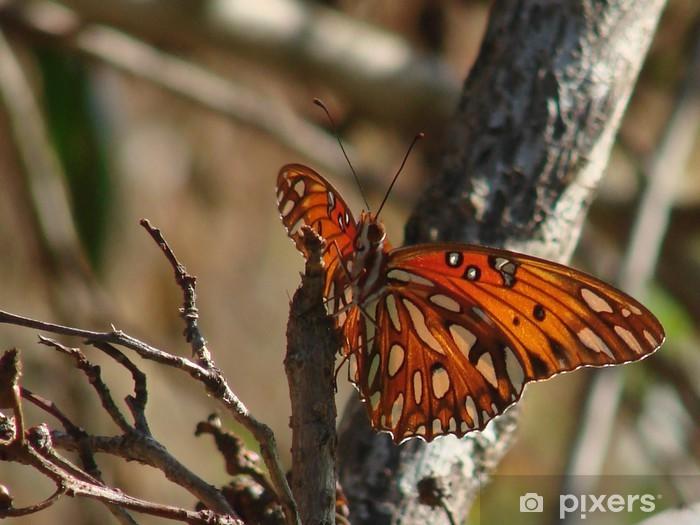 Nálepka Pixerstick Oranžová a bílá křídla - Svoboda