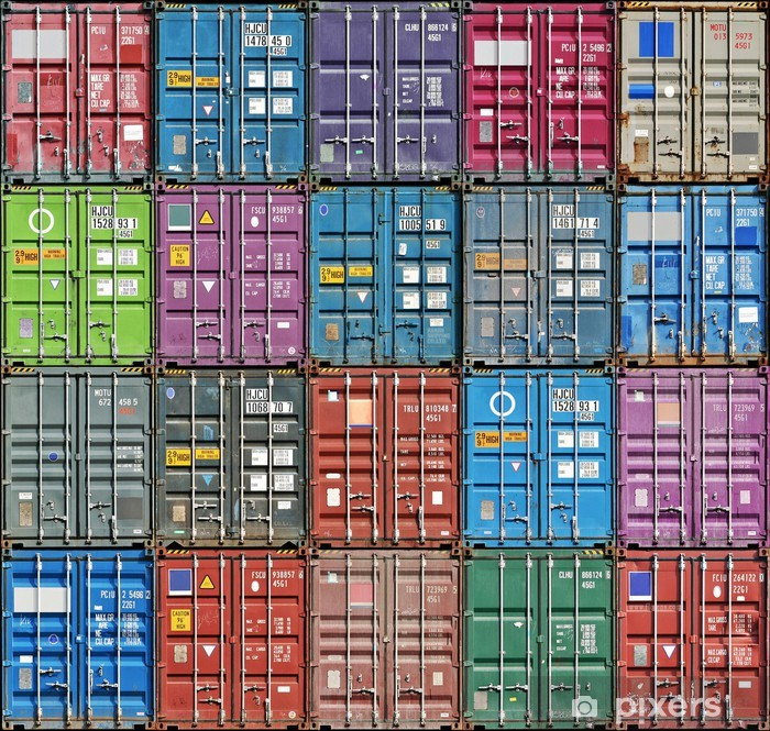 Pixerstick Sticker Freight Containers - Onderweg