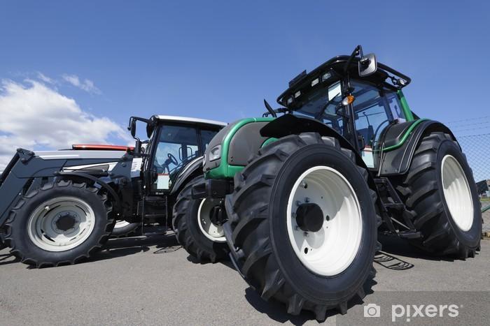 Vinyl-Fototapete Riesen Landwirtschaft Traktoren - Straßenverkehr