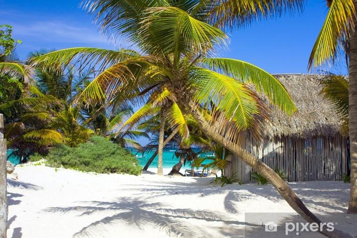 Pixerstick Sticker Caribische strand - Thema's
