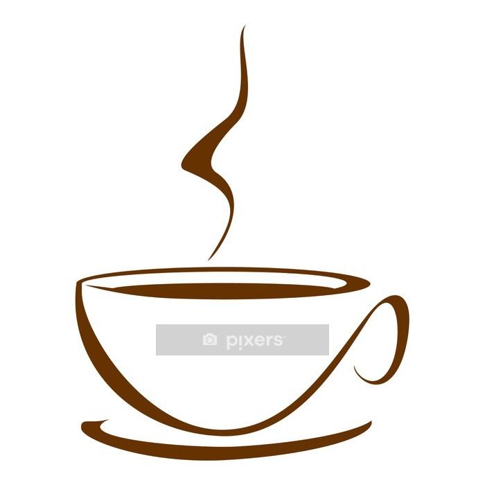 Wandtattoo Kaffeetasse • Pixers® - Wir leben, um zu verändern
