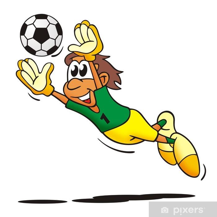 Fussball Torwart Sticker Pixerstick