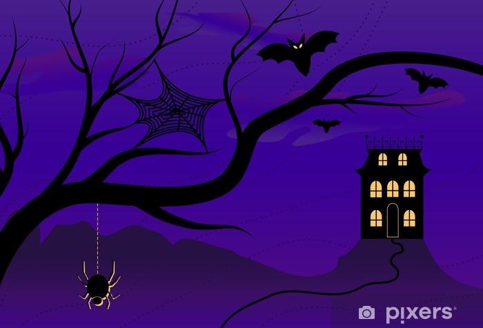 Sticker Pixerstick Spooky Halloween House - Fêtes internationales