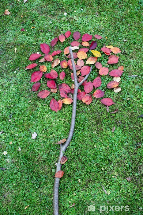 Pixerstick Aufkleber Herbstblätter in einem Stillleben - Jahreszeiten