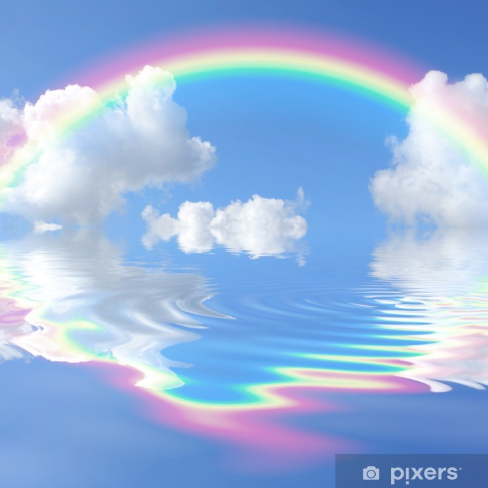 aufkleber regenbogen himmel • pixers®  wir leben um zu