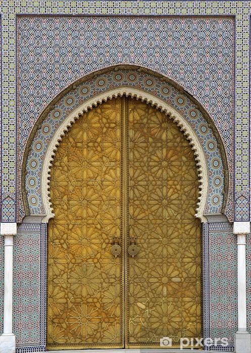 Vinyl Fotobehang Marokkaanse entree (3) - Privé Gebouwen