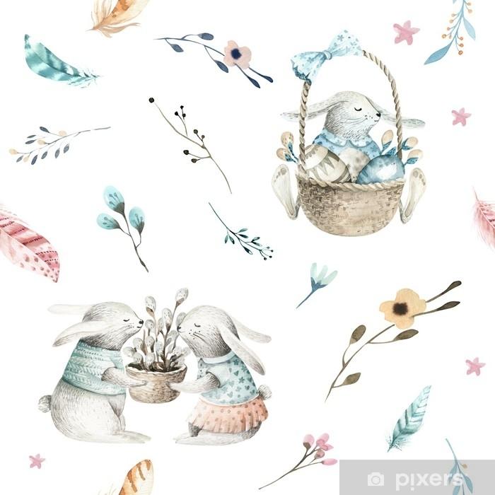 29c25825a76e Dekor Söt baby kanin djur sömlös mönster, skog illustration för barn kläder.  skogs akvarell handgjorda Boho bild för fodral design, barnkammare  affischer - ...