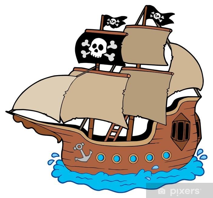 Sticker Bateau Pirate Pixers Nous Vivons Pour Changer