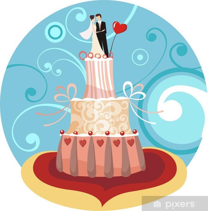 Papier peint vinyle Wedding cake - Desserts et friandises