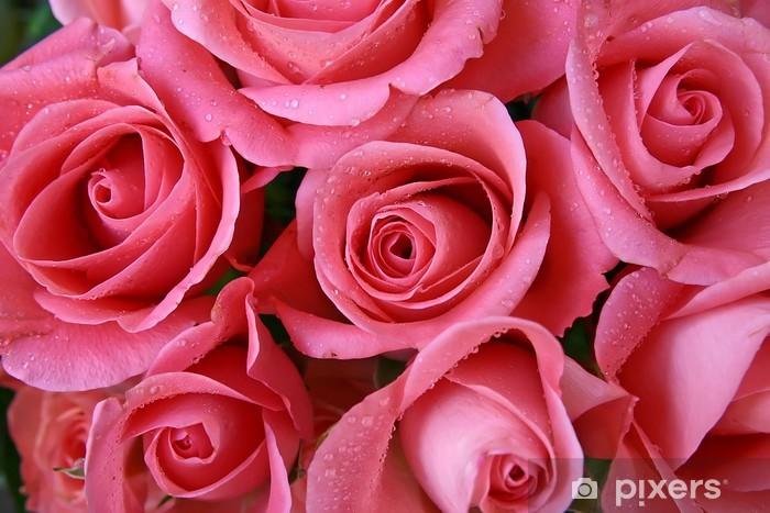Sticker Pixerstick Roses roses - Thèmes