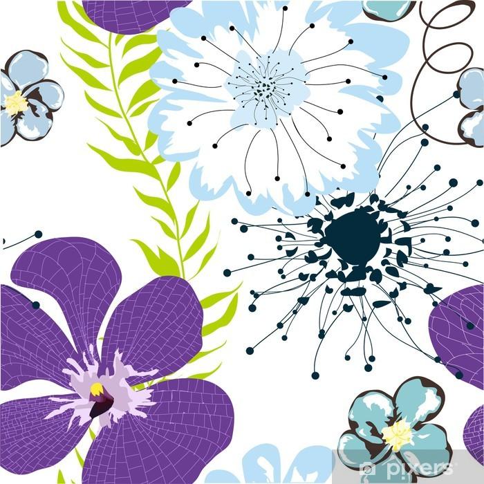 Fotomural Estándar Papel tapiz floral sin fisuras - Flores