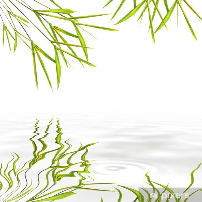Papier peint vinyle Herbe Feuille de Bambou - Paix