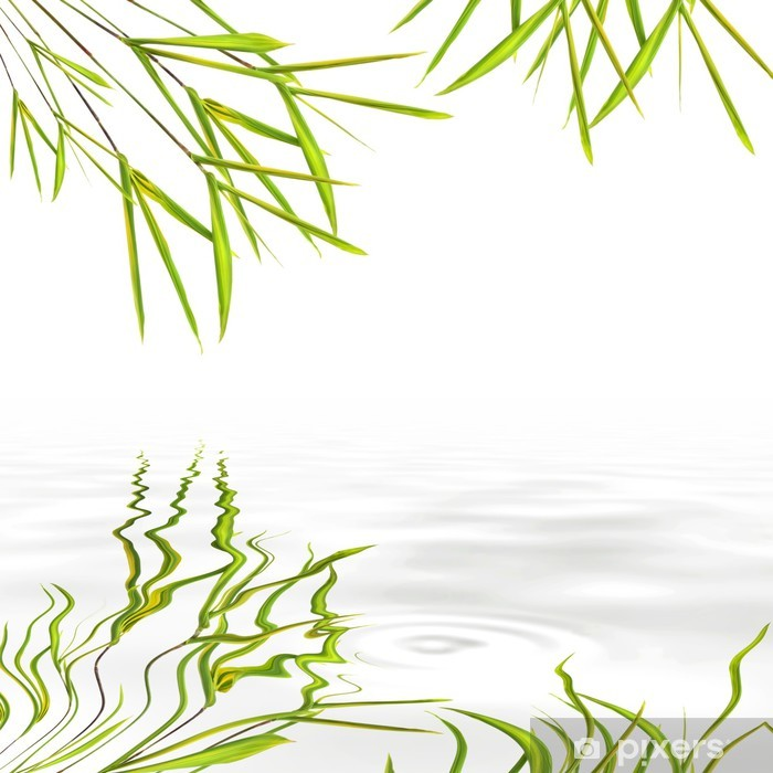 Sticker Pixerstick Herbe Feuille de Bambou - Paix