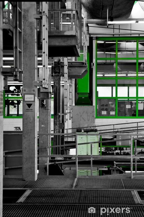 Papier peint vinyle Maschinenhalle - Chemin de fer