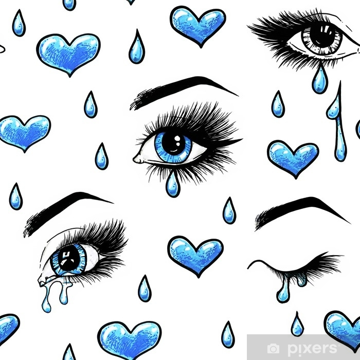 Beautiful Open Female Blue Eyes With Long Eyelashes Is Isolated On A White Background Makeup Template