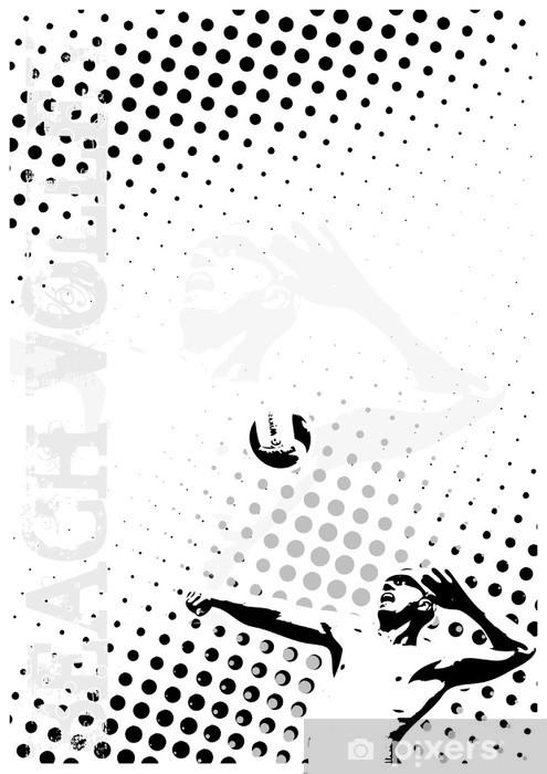 Vinilo Pixerstick Puntos de voleibol de fondo del cartel - Temas