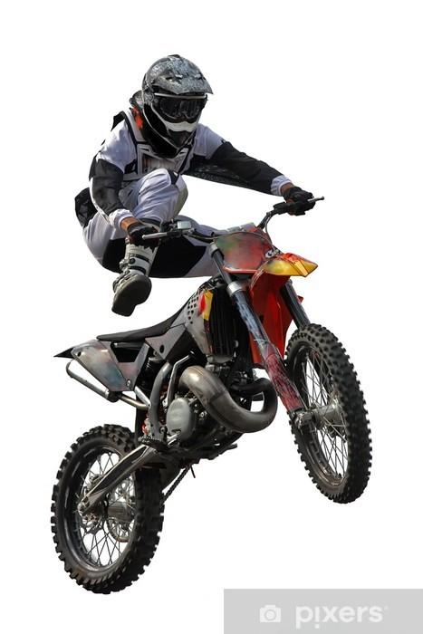 Motocross jump Pixerstick Sticker - On the Road