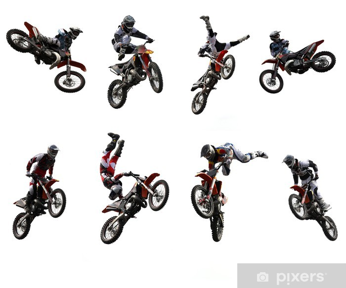 Motocross Self-Adhesive Wall Mural - On the Road